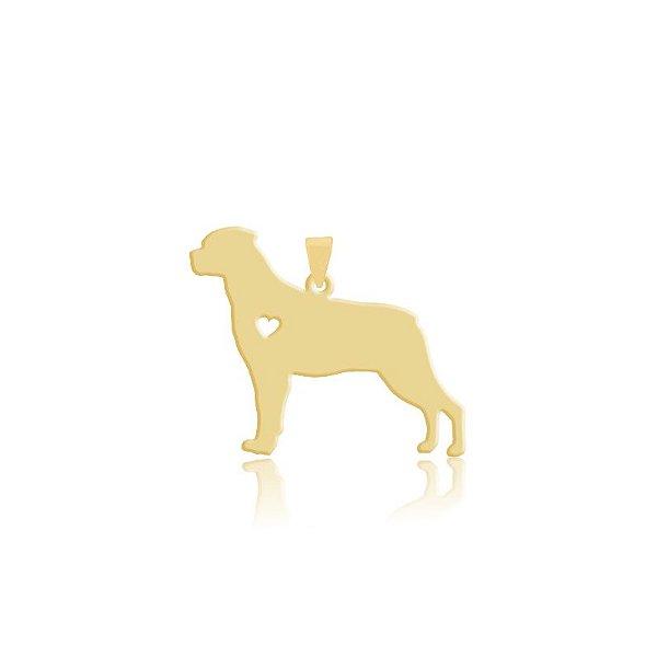 Pingente Cane Corso folheado em ouro 18k
