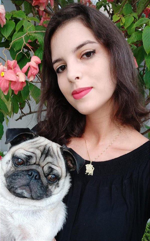 Pingente coleção Luna - The Pug @luna.mariapug folheado em ouro 18k