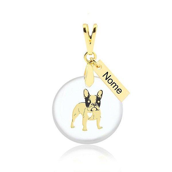 Personalize aqui o seu pingente acrílico Boston Terrier