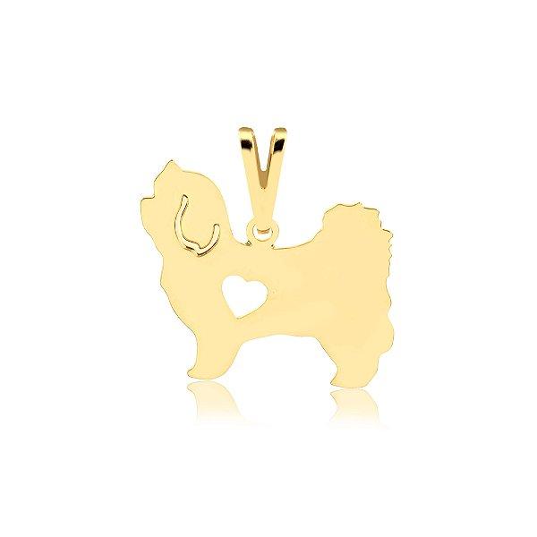 Pingente Maltês folheado em ouro 18k