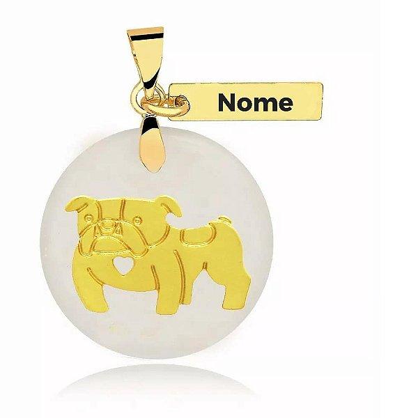 Personalize aqui o seu pingente madrepérola Bulldog