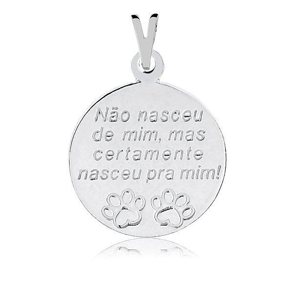 Pingente não nasceu de mim, mas certamente nasceu para mim em prata 925