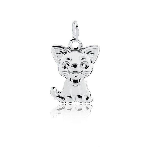 Pingente gatinho em prata 925