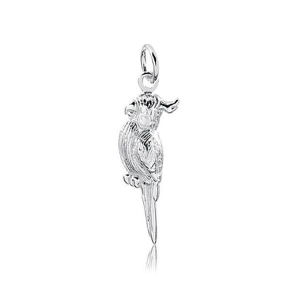Pingente calopsita em prata 925