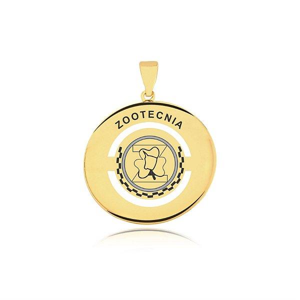 Pingente Zootecnia folheado em ouro 18K