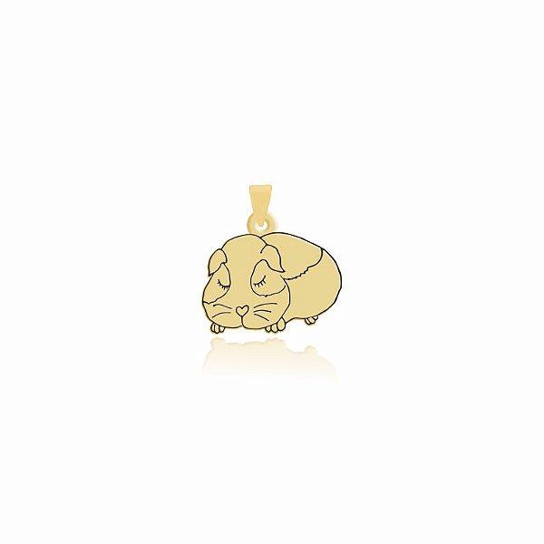 Pingente Hamster folheado em ouro 18k