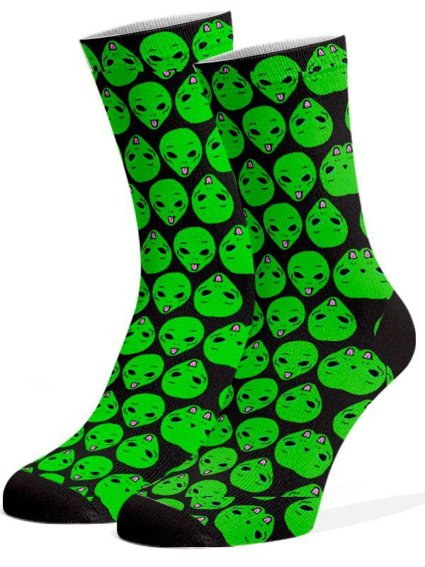 Meias Fun - ET preto e verde
