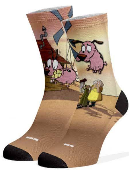 Meias Fun - Cão rosa fazendeiro