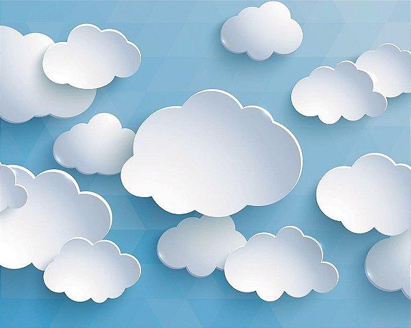 Fundo Fotografico Nuvens 4 horizontal ( 1,50 x 2,10 metros)