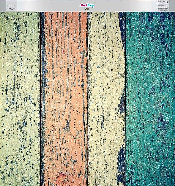 Fundo Fotografico - Madeira Velha Flex (1,50 x 1,60 metros)