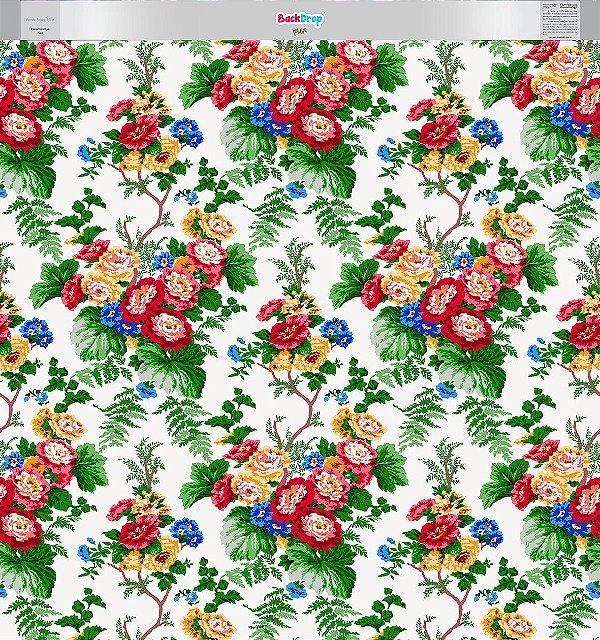 Fundo Fotográfico - Floral Vintage Flex (1,50 x 1,60 metros)