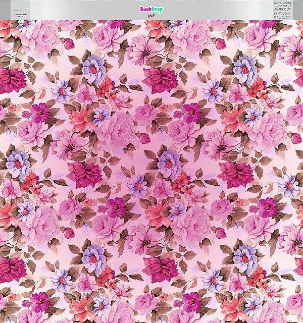 Fundo Fotográfico - Floral Pintura 02 - Vários Formatos.