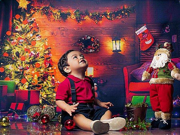 Fundo Fotográfico Flex - Cena de Natal (Duas opções para escolher)