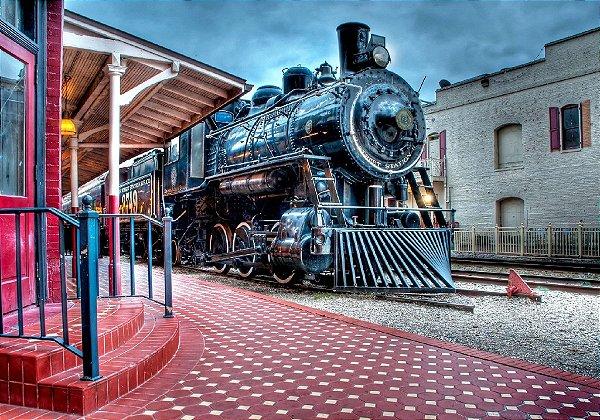 Fundo Fotografico - Locomotiva Cena 9 ( 1,50 x 2,10 metros)