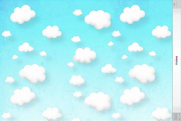 fundo Fotografico Nuvens 3 horizontal ( 1,50 x 2,10 metros)