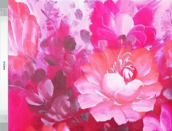 Fundo Fotografico - Floral em Tinta (1,50 x 2,10 metros)