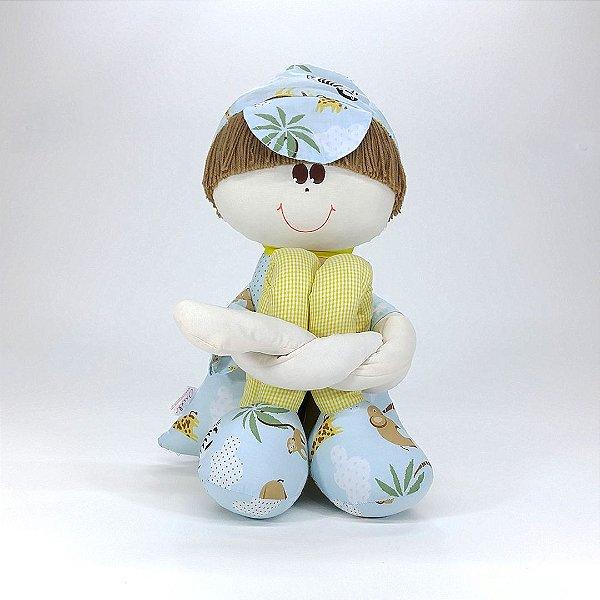 Boneco Sulo Grande Azul Coleção Safári