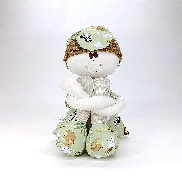 Boneco Sulo Grande Verde Coleção Safári
