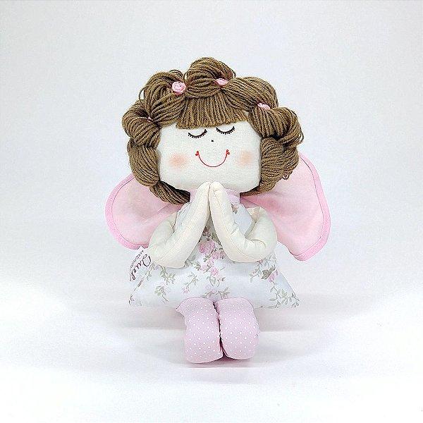 Boneca de pano Anjinha Coleção Provençal Malui Rosa