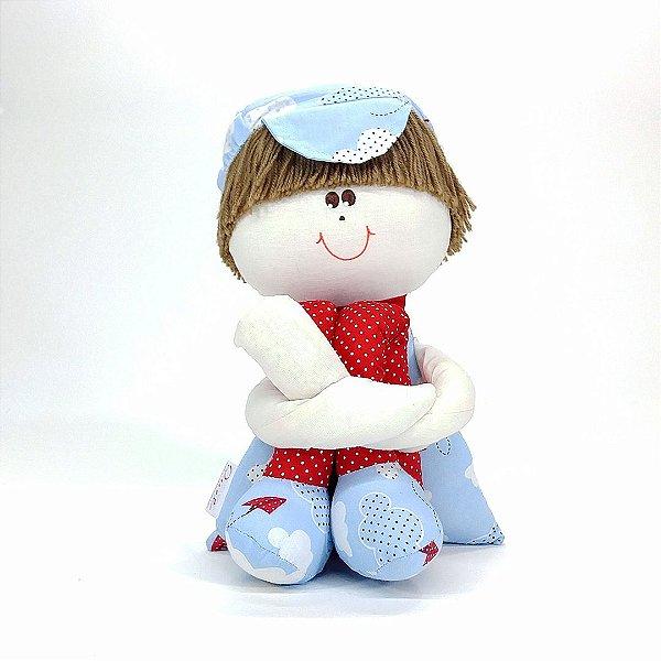 Boneco Sulinho Coleção Céu Azul Com Vermelho