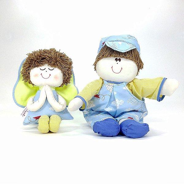 Kit 02 Peças: Menino Lú + Anjinho Coleção Céu