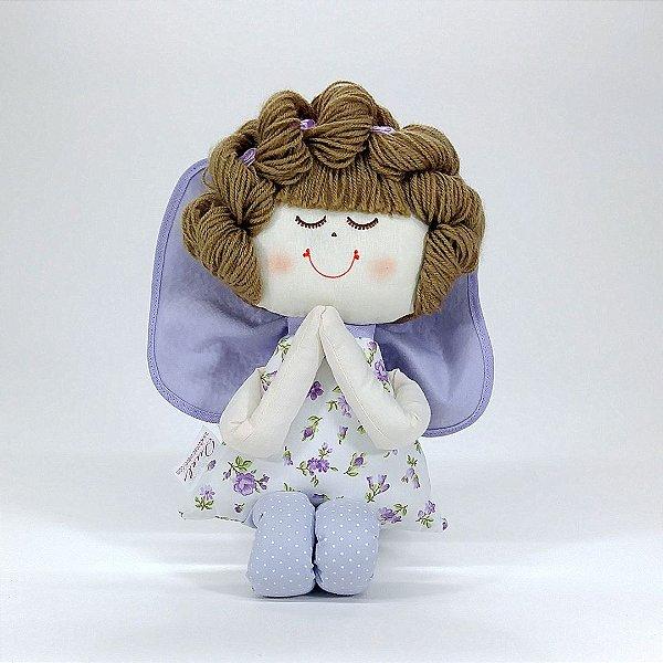 Boneca de Pano - Anjinha Coleção Lilás