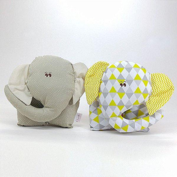 Naninhas: Elefante Kit 02 peças Bege e Amarela