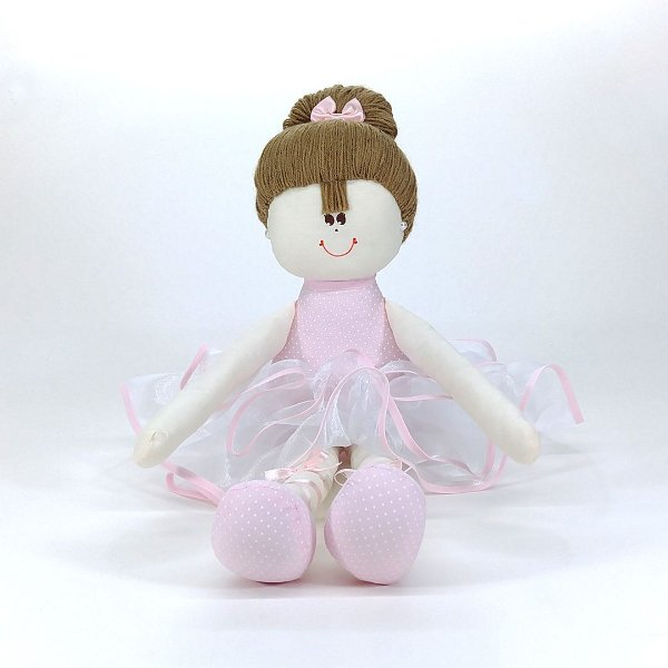 Bailarina Grade Rosa com poa branco