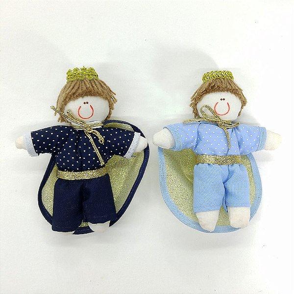Kit Lembrança 30 Peças: Príncipes Miniatura Azul marinho Ou Azul Bebê