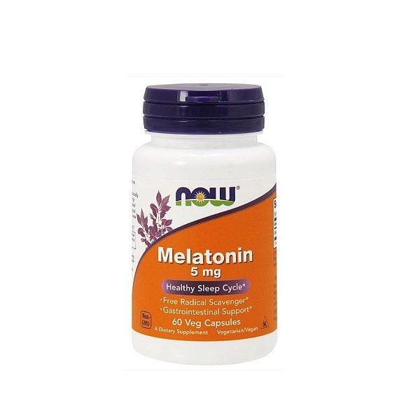 Melatonina 5 mg 60 Veg Capsulas - Now