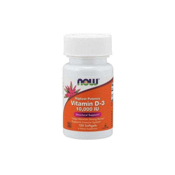 Vitamina D3 10.000ui 120 Softgels -  Now