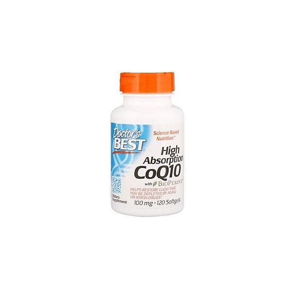 COQ10 de Alta Absorção Com BioPerine 100mg 120Caps - Doctor's Best