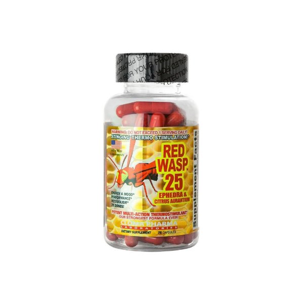 Termogênico Red Wasp 25mg  75 Caps - Cloma Pharma