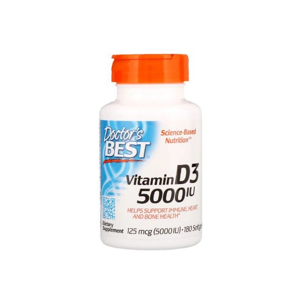 Vitamin D3  5.000ui 180 Caps - Doctor Best