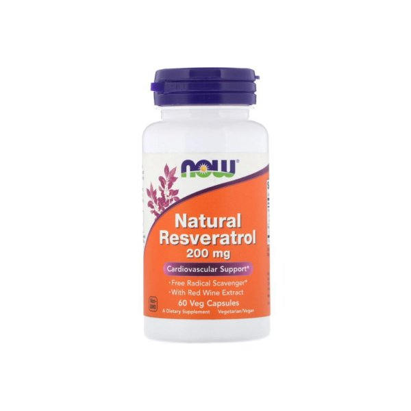 Resveratrol Natural 200 mg 60 Caps  - Now