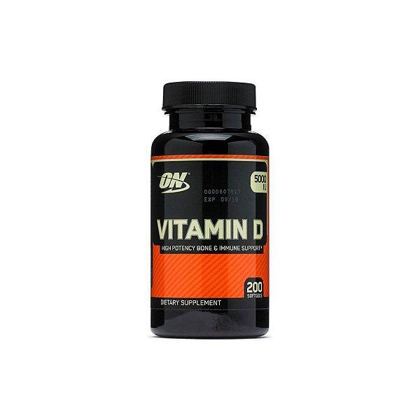 Vitamin D3 5.000ui 200 Caps - Optimum Nutrition