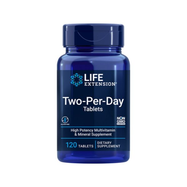 Multivitaminico Two Per Day Tablets 120 Caps - Life Extension