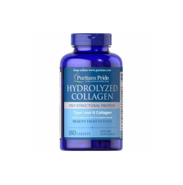 Hydrolyzed Collagen 180 Caps - Puritans Pride