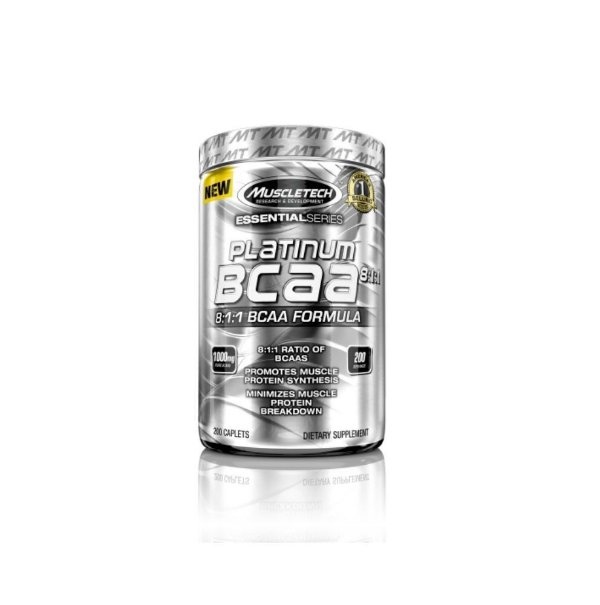 Bcaa Platinum 8:1:1 200Caps 1000Mg - Muscletech