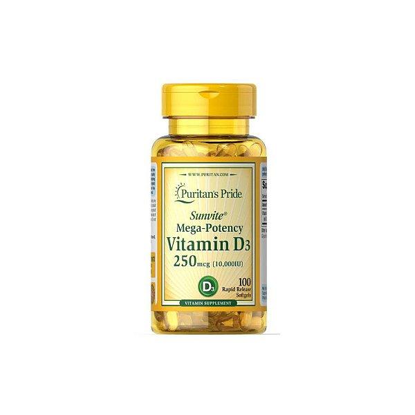 Vitamina D3 10.000ui 100Caps - Puritans Pride