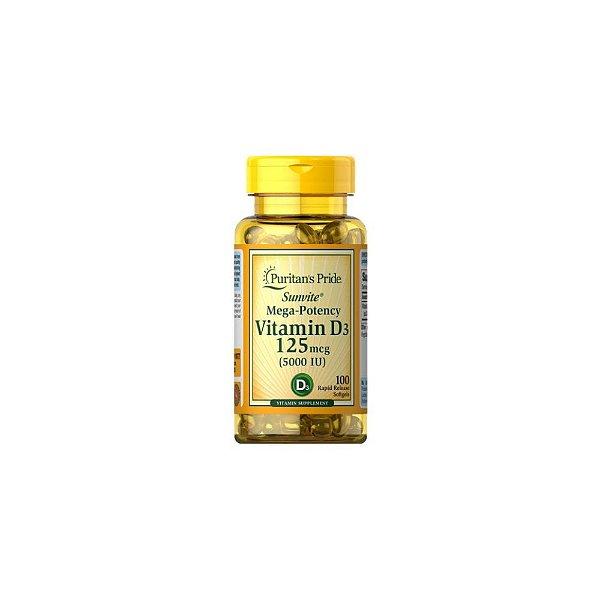 Vitamina D3 5.000ui 100Caps - Puritans Pride