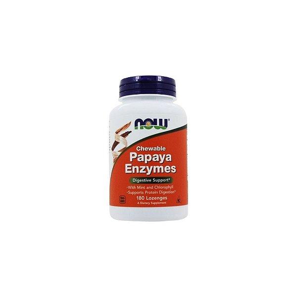 Enzimas Papaya Enzymes 180 Cáps - Now