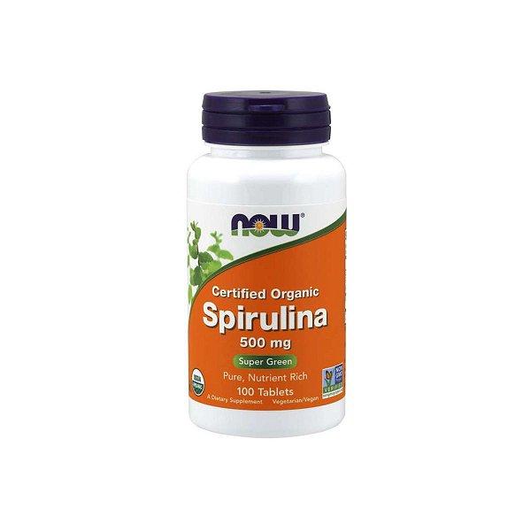 Spirulina 500 mg 100 Comprimidos Orgânicos - Now