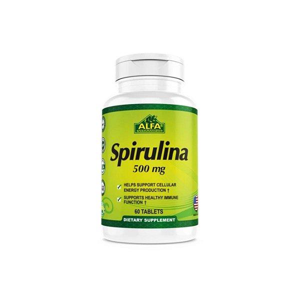 Spirulina 500 mg 60 Comprimidos - Alfa Vitamins
