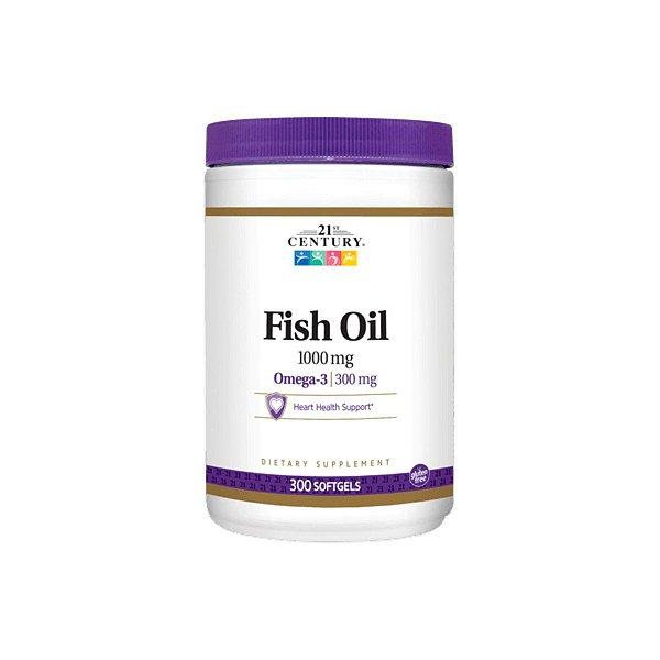 Óleo de Peixe Fish Oil Omega 3 1000mg 300 Softgel - 21ST Century