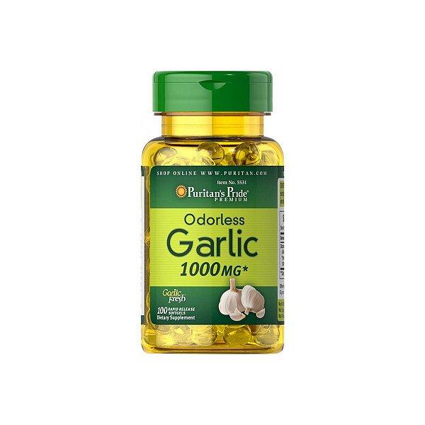 Oleo de Alho Odorless Garlic 1000 mg - Puritans Pride