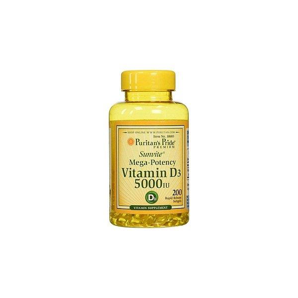 Vitamina D3 5.000ui 200Caps - Puritans Pride