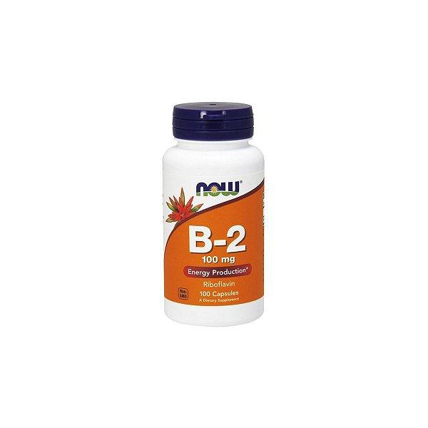 Vitamina B-2 (Riboflavina) 100 mg 100 Cápsulas -  Now