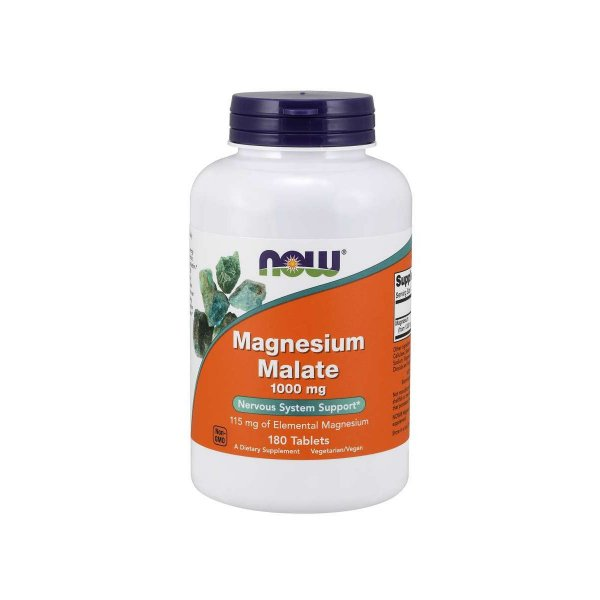 Malato de magnésio 1000 mg 180 Tabletes - Now Foods