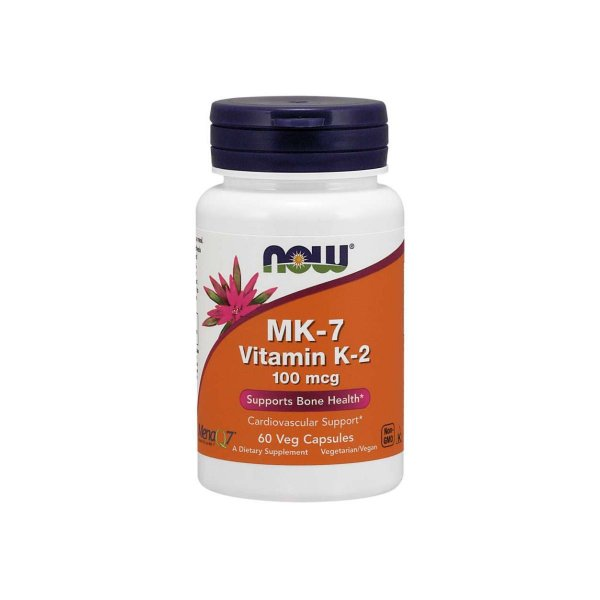 Vitamina MK-7 e K-2 100mcg 60 capsulas - NOW